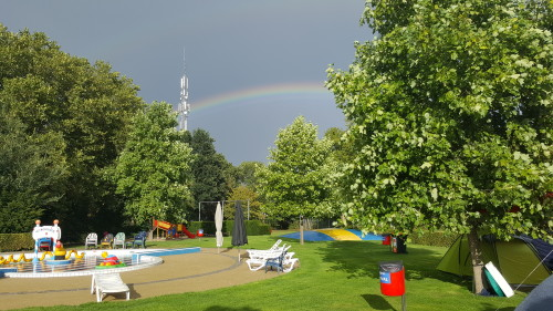 Wow, mooie regenboog