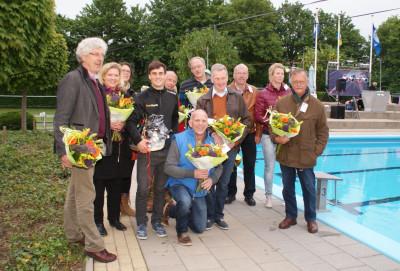 De initiatiefgroep van het zwembad