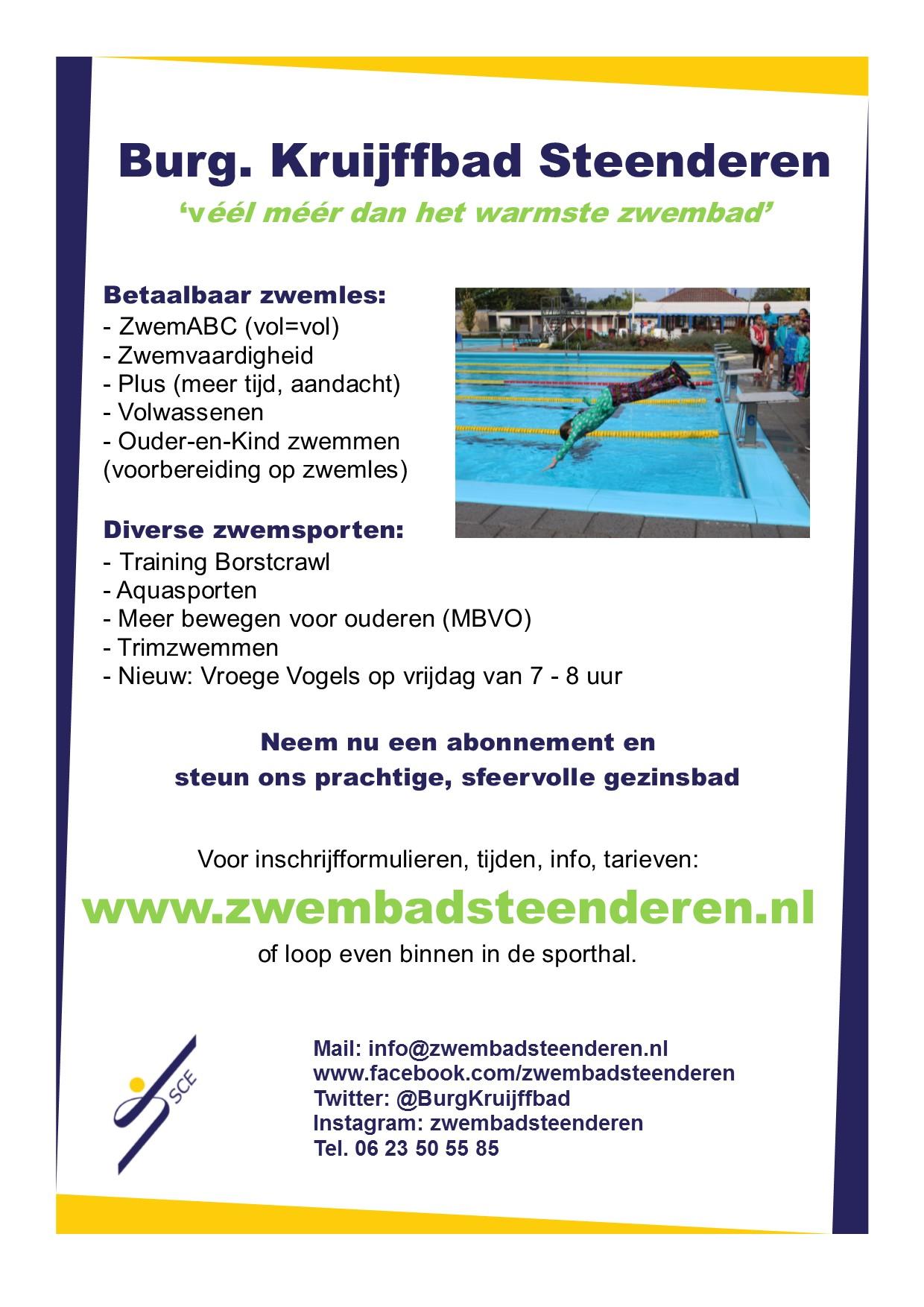 We Zoeken 1 Persoon Om 1 Flyer Te Bezorgen Zwembad Burgemeester