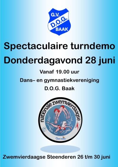 Turn en dansdemo Zwembad 2018